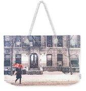 New York City Snow Weekender Tote Bag by Vivienne Gucwa