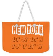 New York Coordinates Weekender Tote Bag