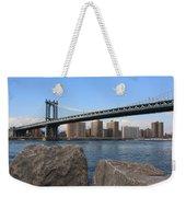 New York's Manhattan Bridge Weekender Tote Bag