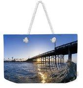 Newport Pier Curl Weekender Tote Bag