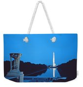 Night View Of The Washington Monument Across The National Mall Weekender Tote Bag