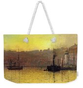 Nightfall In Scarborough Harbour Weekender Tote Bag