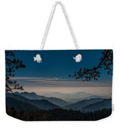 Misty Blue Shades Of Generals Highway 1 Weekender Tote Bag
