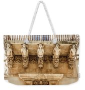 Noto, Sicily, Italy - Detail Of Baroque Balcony, 1750 Weekender Tote Bag