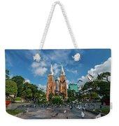 Notre-dame Cathedral Basilica Of Saigon, Officially Cathedral Basilica Of Our Lady Of The Immaculate Weekender Tote Bag