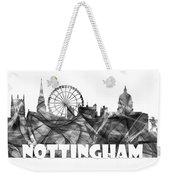 Nottingham England Skyline Weekender Tote Bag