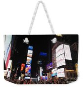 Nyc Times Square Weekender Tote Bag
