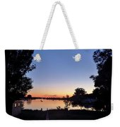 Obear Park And The Danvers River At Sunset Weekender Tote Bag