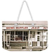 Old Art Deco Filling Station Weekender Tote Bag