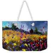 Old Chapel And Flowers Weekender Tote Bag