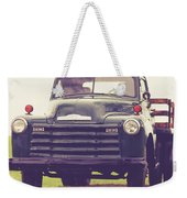 Old Chevy Farm Truck In Vermont Square Weekender Tote Bag