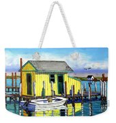 Old Crab Yellow Shacks Of Tangier Island Weekender Tote Bag