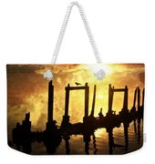 Old Pier At Sunset Weekender Tote Bag