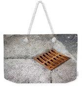 Old Rusty Street Grate Near The Sea In Cres Weekender Tote Bag