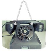 Old Telephone Square Weekender Tote Bag