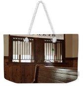 Old Time Train Station Weekender Tote Bag