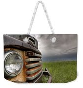 Old Vintage Truck On The Prairie Weekender Tote Bag