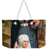 Old Woman At Prayer With St. Anne Weekender Tote Bag