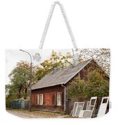 Old Wooden House With Tar Weekender Tote Bag