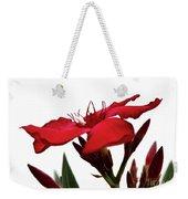 Oleander Blood-red Velvet 3 Weekender Tote Bag