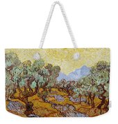Olive Trees With Yellow Sky And Sun Weekender Tote Bag