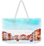 On A Boat Trip On The Grand Canal In The Beautiful City Of Venice In Italy Weekender Tote Bag