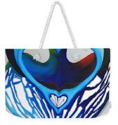 Open Heart Weekender Tote Bag