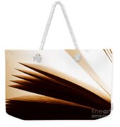 Open Old Book With Pages Fluttering Weekender Tote Bag