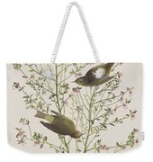 Orange Crowned Warbler Weekender Tote Bag