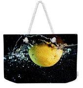 Orange Splashing In Water Weekender Tote Bag