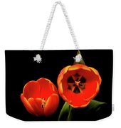 Orange Tulip Macro Weekender Tote Bag
