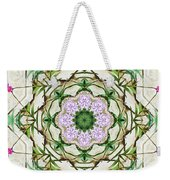 Orchids And Stone Wall Kaleidoscope 1764 Weekender Tote Bag