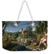 Orpheus And Animals Weekender Tote Bag