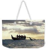 Outrigger Canoe Weekender Tote Bag