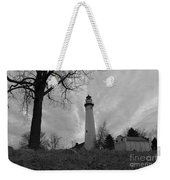 Overcast Lighthouse Weekender Tote Bag