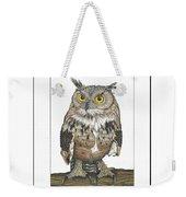 Owl In Pose Weekender Tote Bag