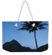 Palm And Blue Sky Weekender Tote Bag