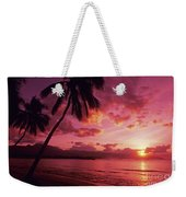 Palms Against Pink Sunset Weekender Tote Bag