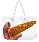 Pancreatic Cancer, Illustration Weekender Tote Bag