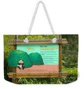 Panda Sign In Wolong Nature Reserve Weekender Tote Bag