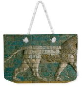 Panel With Striding Lion Weekender Tote Bag