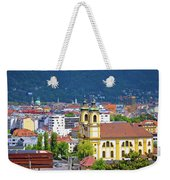 Panoramic Aerial View Of Innsbruck And Hafelekarspitze Mountain Weekender Tote Bag