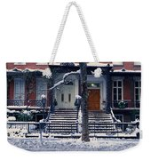 Panoramic View Of Historic Homes Weekender Tote Bag