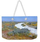 Panoramic View Of White Salt And Desert Weekender Tote Bag