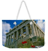 Parthenon With Poppies Weekender Tote Bag