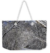 Path In Winter Forest Weekender Tote Bag