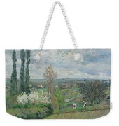 Peacock And Poultry In A Park, Chased By A Dog, Arie Lamme, C. 1775 - C. 1800 Weekender Tote Bag