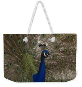 Peacock Close-up Weekender Tote Bag