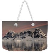 Peaks At Sunset Wiencke Island Weekender Tote Bag