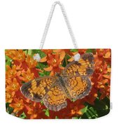Pearly Crescentspot Butterfly Weekender Tote Bag